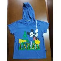 Camiseta mickey capuz azul