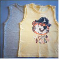 2  camisetas regatas - 3 anos - Não informada