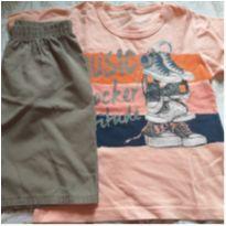 Conjunto Camiseta e Shorts - 3 anos - Brandili