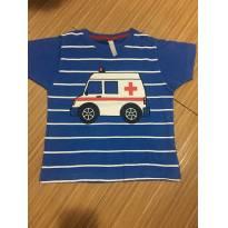 Camiseta ambulância - 1 ano - Tex