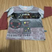 Camiseta manga longa dinossauro - 1 ano - Marlan