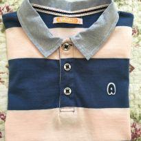 Blusa Polo listras  - Alphabeto - 8 anos - Alphabeto