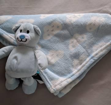 Urso e cobertor fofinho de nuvem - Sem faixa etaria - Buba