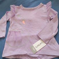 Blusa delicada de manga longa cisne princesa - 1 ano - Carter`s