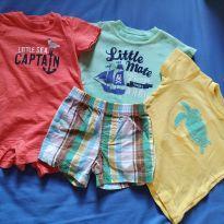 Lotinho Carter`s com 4 peças para 6 meses + BRINDE - 6 meses - Carter`s
