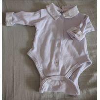Body de manga comprida bordado Lucas - 3 meses - Artesanal