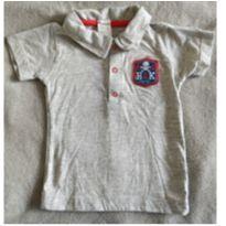Camisa pólo cinza de pirata - 1 ano - Hering