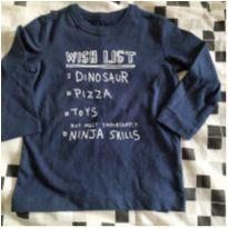 Blusa de manga longa divertida wish list - 6 a 9 meses - OshKosh