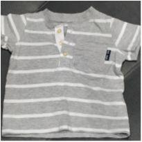 Camiseta listradinha cinza - 9 meses - Carter`s
