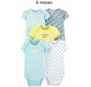 Kit Com 5 - Body / Bodies (6 Meses) - Carter`s - 6 meses - Carter`s