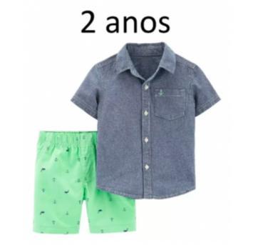 Conjunto Camisa E Shorts 2 Peças - (2 Anos) - Carters, - 2 anos - Carter`s