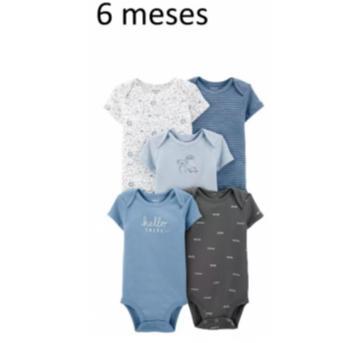 Kit Com 5 - Body / Bodies (6 Meses) - Carter`s - 6 meses - Carter`s