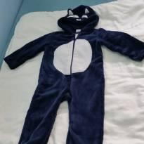 Macacão em soft azul marinho - 9 a 12 meses - Teddy Boom