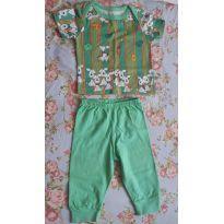 Pijama bebe 100% algodao - 0 a 3 meses - Não informada