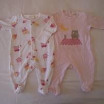 Kit 2 Macacões - 0 a 3 meses - Zara Baby