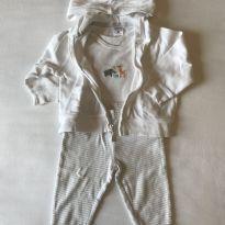 Conjunto de calça, casaco e bodys - 6 meses - Carter`s