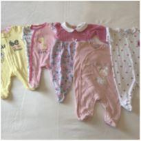 Kit 5 macacões - Recém Nascido - Koala Baby e Baby Classic