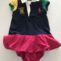 Vestido Polo - 9 a 12 meses - Ralph Lauren