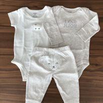 Conjunto de dois bodys e uma calça Carter's - 3 meses - Carter`s