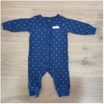 Macacão Carters Azul Poá Rosa Daddy`s Girl - 3 meses - Carter`s