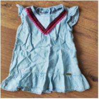 Vestido Jeans Étnico Bakulelê - 6 meses - Bakulelê