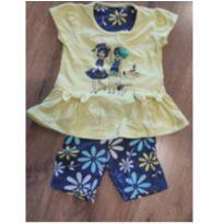 Conjuntinho Azul e Amarelo - 6 meses - Have Fun