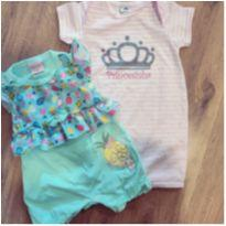 Kit macacões da princesa - 6 meses - Piu Blu