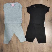 Kit básico preto e cinza - 0 a 3 meses - Livy