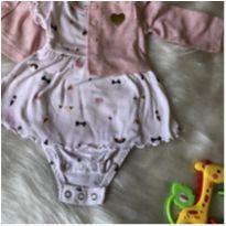 Vestido com cardigã Carter`s RN - Recém Nascido - Carter`s
