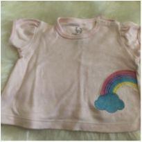 camiseta +casaquinho rosa - 0 a 3 meses - Espevitados
