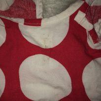 Vestido vermelho e branco bolinhas - 0 a 3 meses - Sem marca
