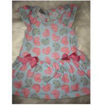 Vestido corações - 0 a 3 meses - Kiko baby