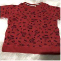 Blusão moletom vermelho - 3 anos - Baby Club