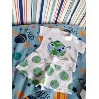 Pijaminha baby Cara de Criança - 3 a 6 meses - Cara de Criança