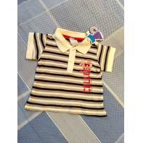 Camiseta Gola polo NOVA Tip Top - 3 meses - Tip Top