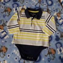 Body camisa polo aclopada - 9 a 12 meses - Charpey