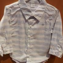 Camisa com body branco aclopado - 9 a 12 meses - Um mais um