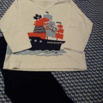Pijama NUNCA USADO + 1 Calça pijama - 18 a 24 meses - Cara de Criança