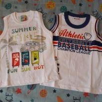 Combo camisetas regatas NOVAS. (2) - 18 a 24 meses - Brandili