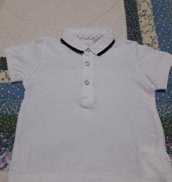 Camisa gola polo Chicco - 12 a 18 meses - Chicco