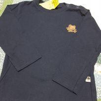 Camiseta  com Etiqueta Tigor - 12 a 18 meses - Tigor T.  Tigre