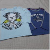 Combo 2 camisetas manga longa - 18 a 24 meses - Tigor Baby