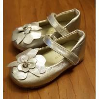 Sapato flor prata - Luluzinha - 20 - Luluzinha
