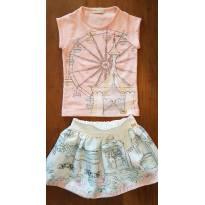 Conjunto de blusa e saia roda gigante - Luluzinha - 2 anos - Luluzinha