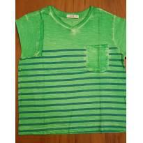 Camiseta Verde Tyrol - 4 anos - Tyrol
