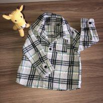 Camisa manga cumprida xadrez