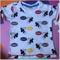 Camisa com estampas do Mickey - 0 a 3 meses - Disney baby