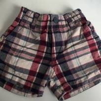 Short Xadrez Baby Boy - 6 a 9 meses - Place