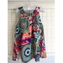 Vestido Bata Floral Colorido - 3 anos - Importada