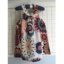 Vestido Bata Floral Delicado - 3 anos - Importada